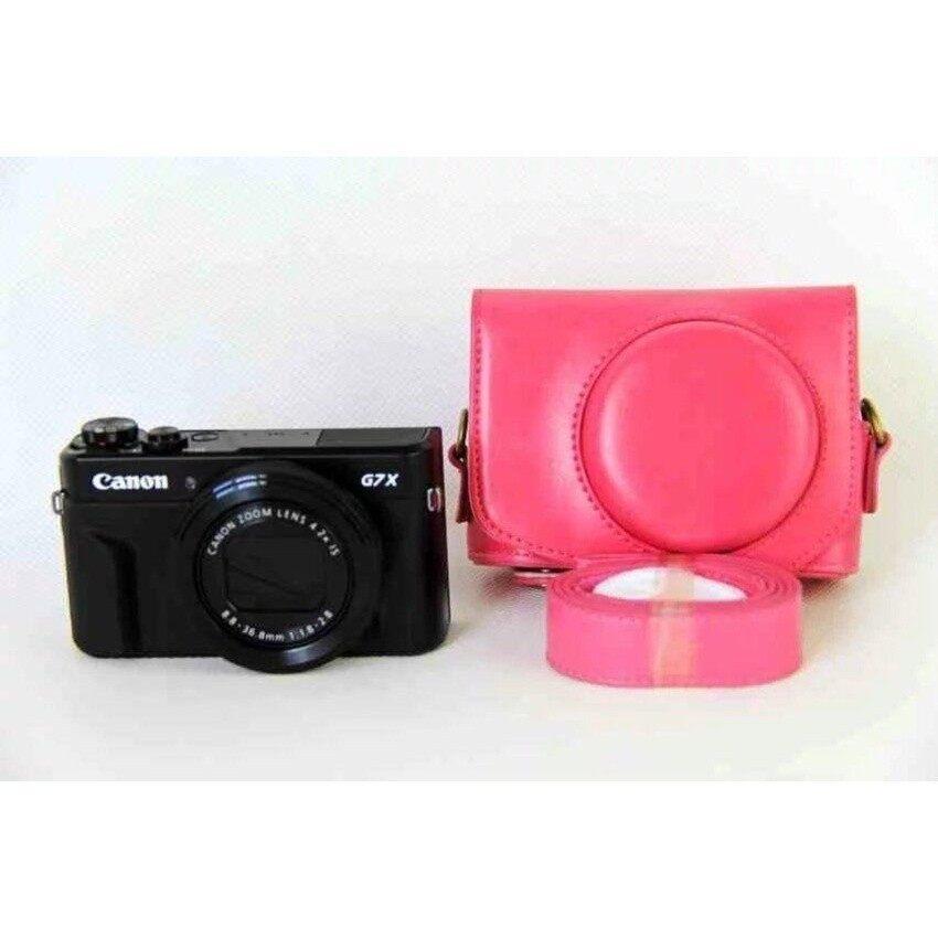 Baru PU Kulit Tas Kamera Kantong untuk Menutupi Kasus Canon PowershotG7XIIG7X II G7X Mark2 dengan Tali Sheng HOTT 1019- internasional