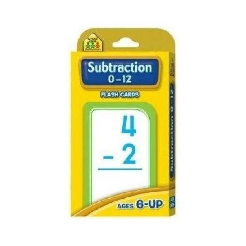 New School Zone Publishing Subtraction 0-12 Flash Cards RoundedCorners Easy Sorting Practical - intl