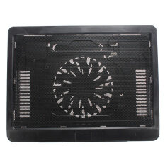 New Thin USB Laptop Notebook Cooler Pad Mat Stand with 140mm LED Cooling Fan Black Malaysia