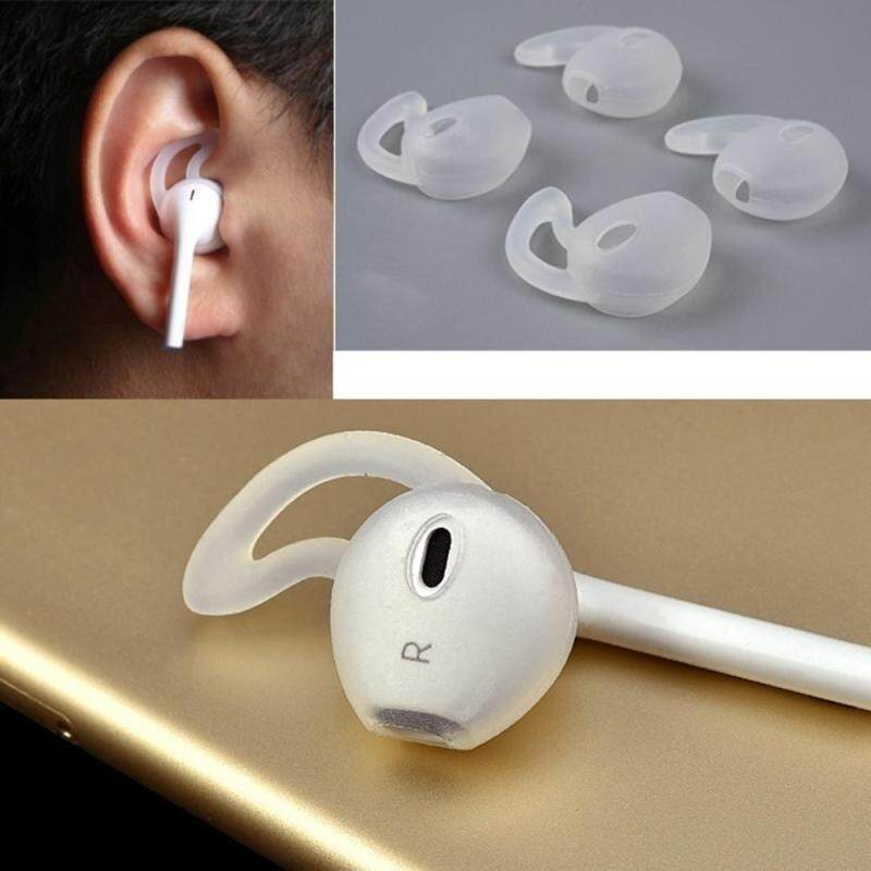 niceEshop 2 Pair Anti-slip Soft Silicone Replacement Earbud Ear Tips Earpods Cover Cushion Earphone Case For Iphone 7/7p/6/6p/6s/6sp/5/5s Singapore