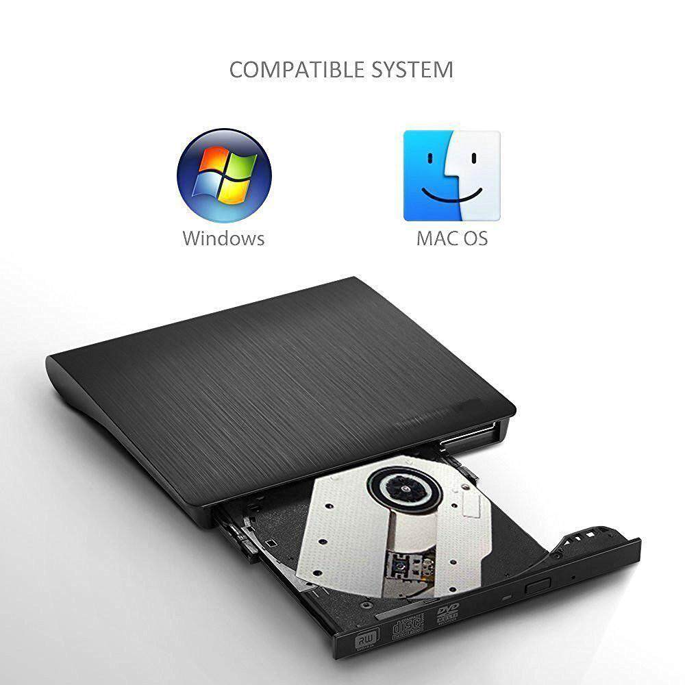 Nên mua niceEshop Portable External DVD Drive USB 3.0 Slim CD±RW CD DVD ROM For Windows Mac OS, Computer Accessories(Black) ở niceE shop