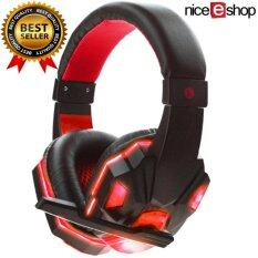 Niceeshop Soyto 830 3.5mm Game Gaming Headphone Headset Earphone Headband With Microphone Led Light For Laptop (red) By Nicee Shop.