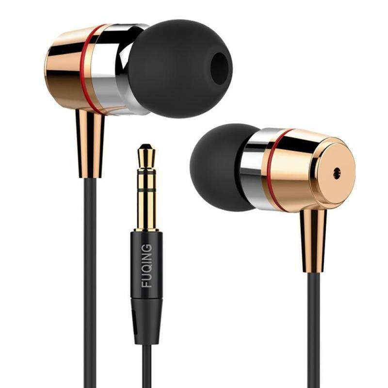 niceEshop Wired Metal Earphones ,Classic Heavy Bass Stereo Earbuds In-ear Headphones Sport Running Headset For IPhone IOS Android 3.5mm Jack (Gold) Singapore