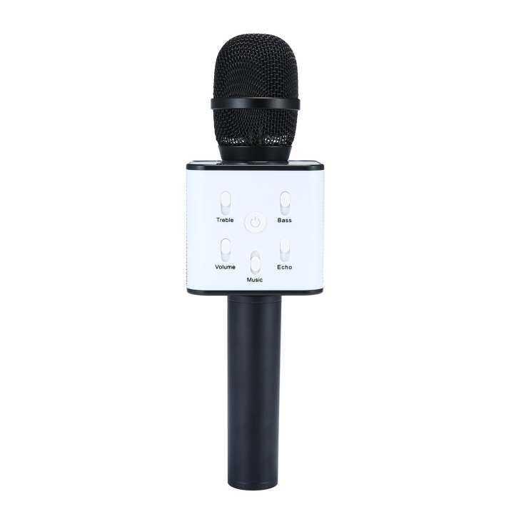niceEshop Wireless Karaoke Microphone, Portable Handheld Cellphone Karaoke Player Built-in Bluetooth Speaker,Karaoke MIC Machine For Home KTV, Compatible With IPhone Android Smartphone / PC (Black)