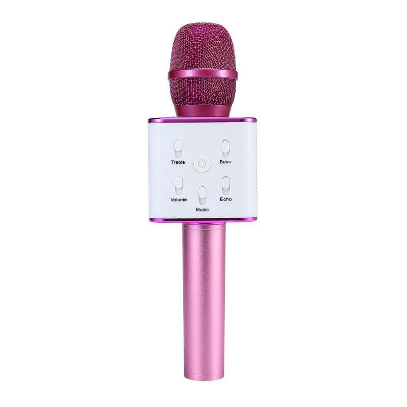 niceEshop Wireless Karaoke Microphone, Portable Handheld Cellphone Karaoke Player Built-in Bluetooth Speaker,Karaoke MIC Machine For Home KTV, Compatible With IPhone Android Smartphone / PC (Pink) Singapore