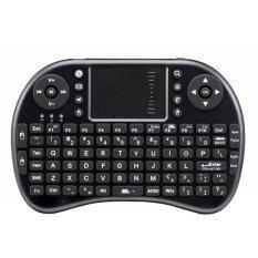 Niceeshop Nirkabel Mini Handheld Keyboard dengan Papan Sentuh Mouse Combo untuk Android/PS3/XBOX 360/Kotak TV/PC dengan Windows OS MAC, Linux (Hitam)