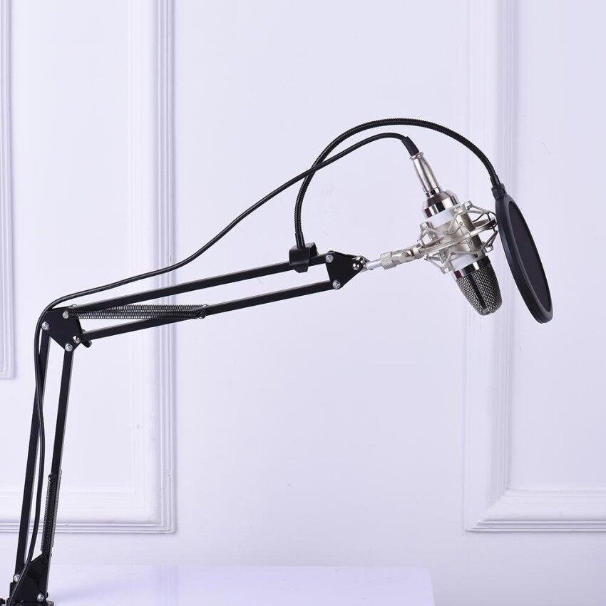 Buy Nicetech Professional Broadcasting Studio Recording Condenser Microphone Mic Kit With Shock Mount Adjustable Suspension Scissor Arm Stand Mounting Clamp Pop Filter Outdoorfree Intl Nicetech