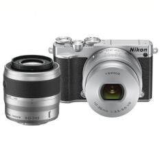 Nikon 1 J5 Mirrorless Digital Camera w/ 10-30mm PD-ZOOM Lens & 30-110mm Lens (Silver)
