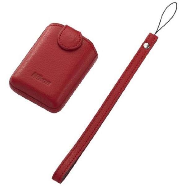 Nikon 25863 CS-CP4-1 Case Kulit (Merah)-Intl