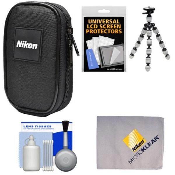 Nikon Coolpix Nylon Digital Camera Carrying Case with Flex Tripod + Cleaning Kit - intl