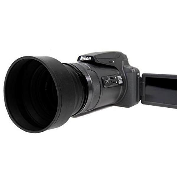 Nikon Coolpix P900 PRO Lensa Digital Hood (Karet Desain Dilipat) (67 Mm) + NW Langsung Microfiber-Intl