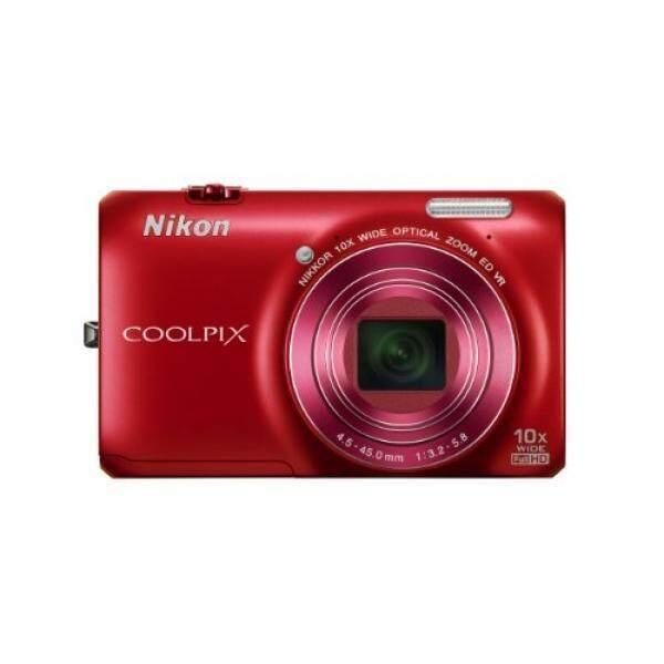 Nikon Coolpix S6300 16 Kamera Digital MP dengan 10x Zoom Nikkor Lensa Kaca dan Full HD 1080 P Video (Merah)-Intl