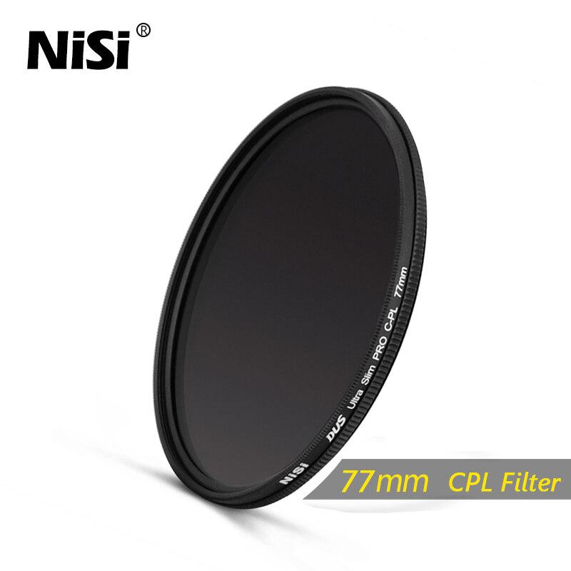 Nisi 77 มิลลิเมตรฟิลเตอร์ CPL DUS Slim แบบมืออาชีพบางเฉียบ C-