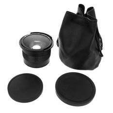 NO.1 0.35x 58mm 52mm Fisheye Lens used in Canon 70D 60D 7D 6D 700D 650D 600D 550D 500D black
