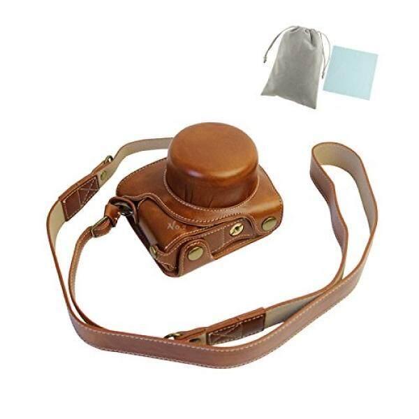 No 2 Gudang Gaya Baru Pelindung Case Kulit Tas dengan Tali Bahu untuk Nikon 1 J5 Kamera Saku Digital dengan 10-30 Mm Lensa (Coklat) + Sepotong Kain Bersih-Internasional