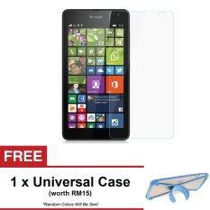 Microsoft Lumia 525 Premium Tempered Glass Screen Protector + FREE Universal Rubber Case