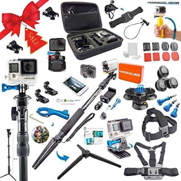 Nomadic Gear 55-in-1 Action Camera Accessories Kit for GoPro, Sony Action Camera, Garmin, Ricoh Action Cam, SJCAM, iPhone and Android Epic Photo Shooting 101 ebook - intl