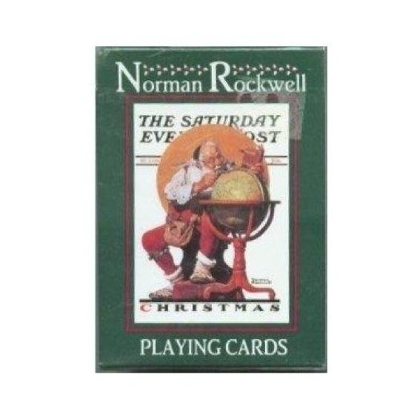 Norman Rockwell Saturday Evening Post Christmas Playing Cards - intl