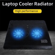 Notebook 2 Fan Radiator Cooling Exhaust Computer Stand Cooler Base Pad Mat USB Black Malaysia