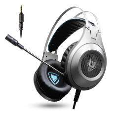 NUBWO N2 PS4 Headset PC Earphone Gaming Stereo Gamer Headphone dengan Mikrofon Mikrofon Headset untuk Komputer Laptop PlayStation 4 Baru Xbox 1 Permainan (HITAM perak)