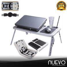 Nuevo E-Table MultiFunction Portable Foldable Laptop Table with Cooling System (White) Malaysia