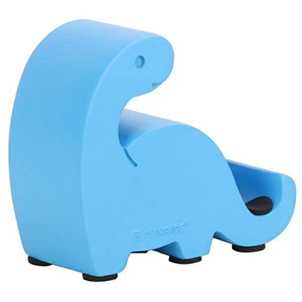 Nugoo Resin Art Craft Animal Cute Mini Dinosaur Desktop Cell Phone Stand Mounts,Candy Color Dino Smart Phone Holder For iPhone iPad Samsung Tablet Kindle - Blue - intl