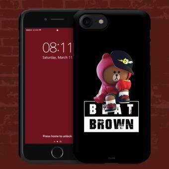 [Produk Resmi] iPhone 8 + Tali Teman Ganda Lapisan Buah Silikon Case (Merah Hoody) -Internasional