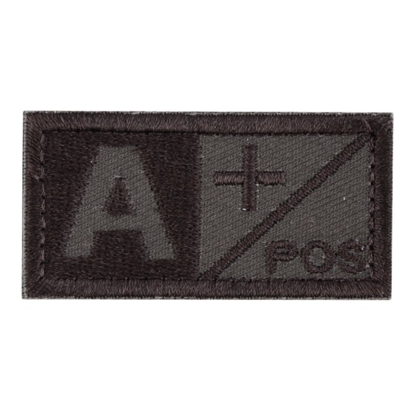 OH 3D Blood Type Patch A B AB O POS NEG Coyote Tan OD Green Patch
