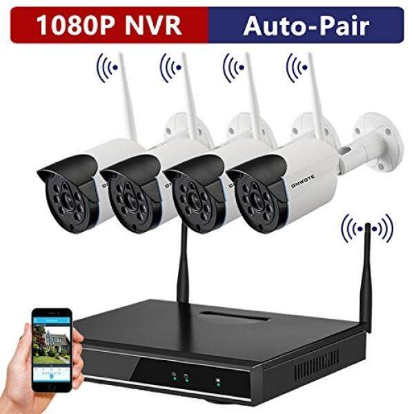 1b5d17bdb2c ONWOTE 1080P HD NVR Outdoor Wireless Home Security Surveillance Camera  System with 4 Pcs 960P HD 1.3 Megapixel IR Night Vision Wifi IP Network  Cameras with ...