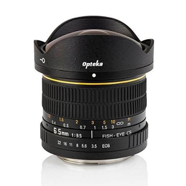 Opteka 6.5 Mm F/3.5 Lensa Mata Ikan untuk Nikon D7500, D7200, D7100, D7000, D5500, d5300, D5200, D5100, D3400, D3300, D3200 dan D3100 Digital Kamera SLR-Intl