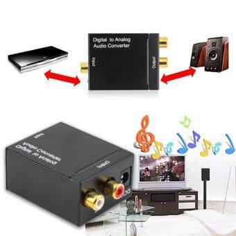 การเปรียบเทียบราคา Optical Coaxial Toslink Digital To Analog Audio Converter Adapter Rca L/R 3.5Mm find price - มีเพียง ฿379.45