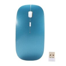 Optical Wireless Mouse 2.4G Receiver Ultra-thin for Computer PC blue Malaysia