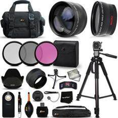 Optimal 21 Piece Accessory Kit for Canon EOS 7D Mark II, 70D 60D 5D 5D Mark II EOS Rebel T6i T6S T5i T5 T4i T3 T3i T2i SL1 EOS M EOS M2 EOS 1200D 1100D 700D 650D 600D 550D XS XSi XT XTi DSLR Cameras Includes 2 x 58mm Lens Attachments + MORE