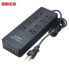 ORICO 8 AC Outlet Surge Protector Power Strip Socket with 4 USB Charging Ports