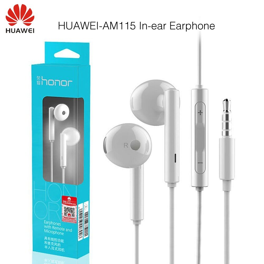 Huawei Headphones Headsets In Ear Price Malaysia Handsfree Earphone Xiaomi Piston 2 Bass Original Honor Am115 With Mic For Universal Phone Retail Box High