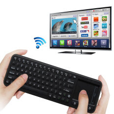 Original Measy RC8 3-in-1 Mini 2.4G USB Wireless Keyboard Air Fly Mouse Touchpad Remote Touch pad for Mini PC Android TV Box Malaysia