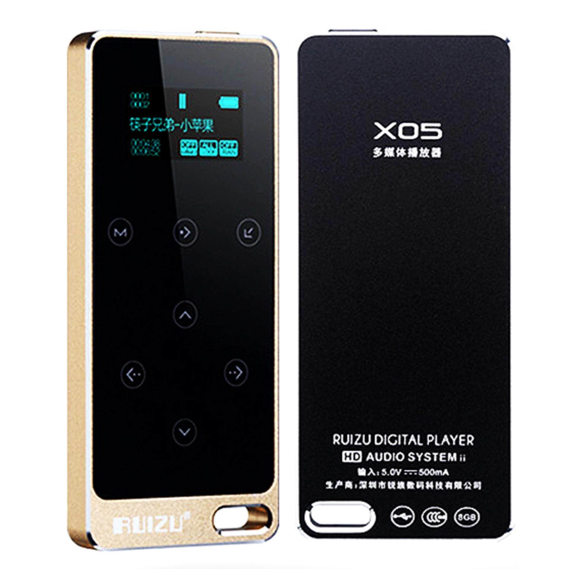 Ban đầu RUIZU X05 HIFI MP3 Người Chơi 8 GB Nút Cảm Ứng Âm Thanh Lossless 1.1 inch Màn Hình Hỗ Trợ FM, sách điện tử Ghi Âm Nhạc