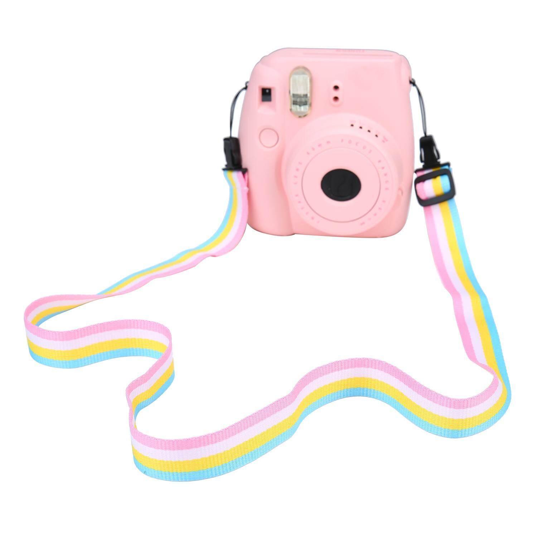 Ouhofus Dapat Disesuaikan Kamera Leher Bahu Tali Sabuk untuk Kamera Digital/Fujifilm Instax Kamera Mini 8/Mini 8 + /Mini 7 S/Mini 25/Mini 26/Mini 50 S/Mini 90, langit Biru-Internasional