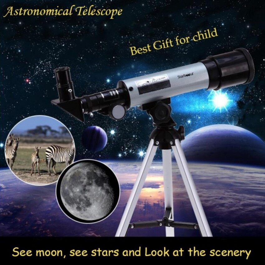 Outdoor Monocular Space 360 degrees Spotting Scope 50mm telescopic Astronomical Telescope With Portable Tripod - intl