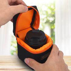 Padded Thick Camera Lens Bag Shockproof Protective Pouch Case for DSLR Camera Lens