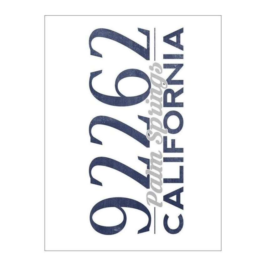 Palm Springs. California - 92262 Zip Code (Blue) (Playing Card Deck- 52 Card Poker Size with Jokers) - intl