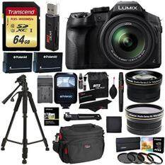 Panasonic FZ300 LUMIX DMC 4K Point & Shoot Camera Leica DC Lens 24X Zoom + Wide Angle & Telephoto Lens + 64GB + 57