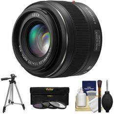 Panasonic Lumix G 25mm f/1.4 Leica DG Summilux Lens with 3 UV/CPL/ND8 Filters + Tripod + Kit for G5, G6, GF5, GF6, GH3, GH4, GM1, GX7 Cameras