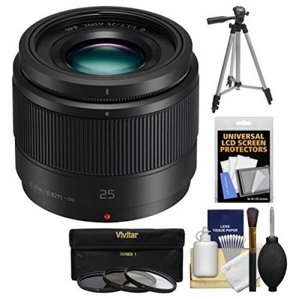 Panasonic Lumix G X 25mm f/1.7 ASPH Lens with Tripod + 3 UV/CPL/ND8 Filters + Kit for G6, G7, GF7, GH3, GH4, GM1, GM5, GX7, GX8 Digital Camera - intl