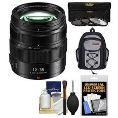 Panasonic Lumix G X Vario 12-35mm f/2.8 II ASPH Power OIS Lens + 3 Filters + Backpack Kit for DMC-G7, G85, GF7, GH3, GH4, GH5, GM1, GM5, GX7, GX8, GX85, GX850