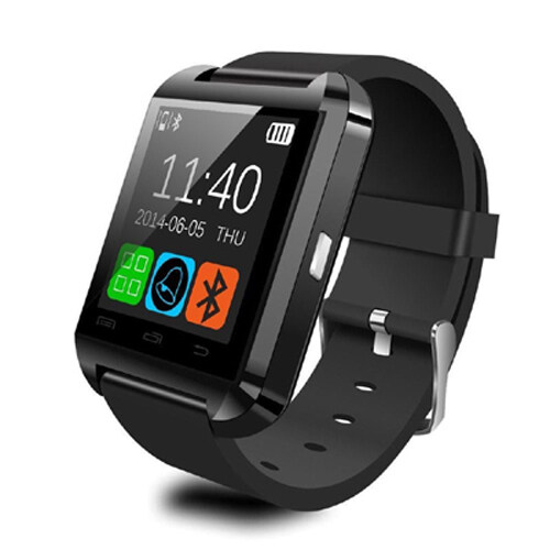 South Rise Pandaoo U8 Bluetooth Pintar Pergelangan Tangan Jam Tangan Mate untuk IOS & Android Samsung/Sony-Internasional