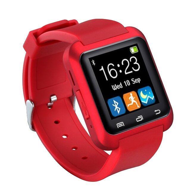 Selatan Naik Pandaoo U80 Bluetooth 4.0 Smart Jam Tanga Gelang Telepon untuk Smartphone Android Samsung S3/S4/S5 Note 2 /Note 3 Note 4 HTC Sony (Merah) -Intl
