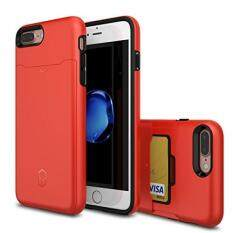 Patchworks Level Card Edition iPhone 8 Plus / 7 Plus Hülle für iPhone 8 Plus / 7 Plus Hülle, iPhone 8 Plus / 7 Plus Schutzhülle - Military Grade Certified Drop Protection, iPhone 8 Plus / 7 Plus Case, Cover Schutzhülle rot [Red ITGL909]