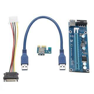 Bộ Mở Rộng PCI-E Express USB3.0 1x To16x Bộ Chuyển Đổi Thẻ, Cáp Nguồn SATA thumbnail