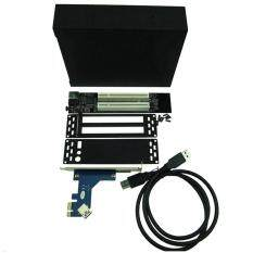 Pci Expess X1 To 2 Ports Pci Slots Card Pci-E Pci Riser Card With Case Enclosure By Marsvios.